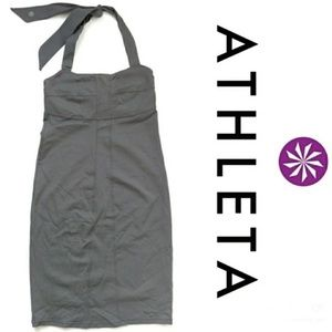 Athleta size 6T halter tank dress charcoal
